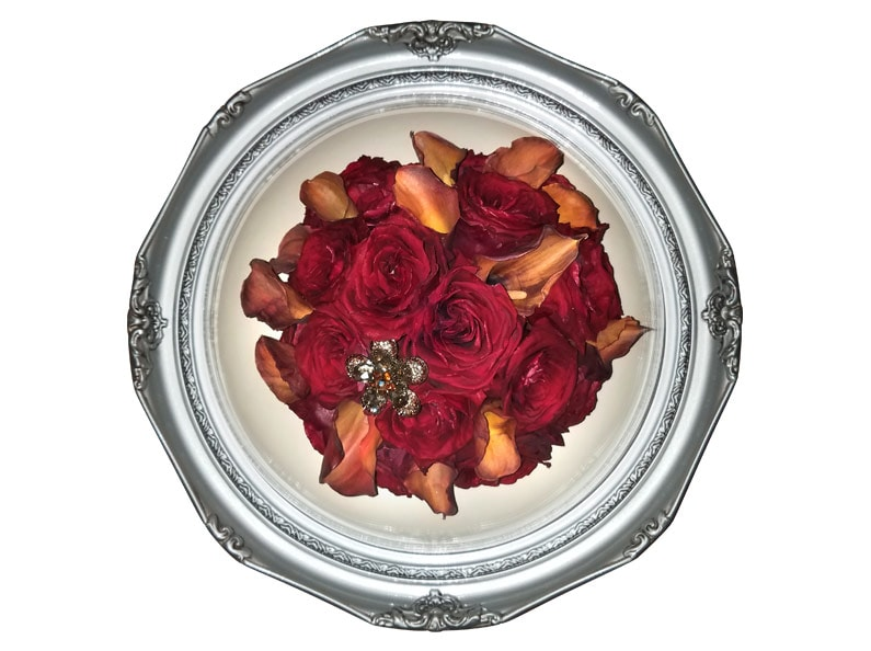 freeze-dried flowers - round